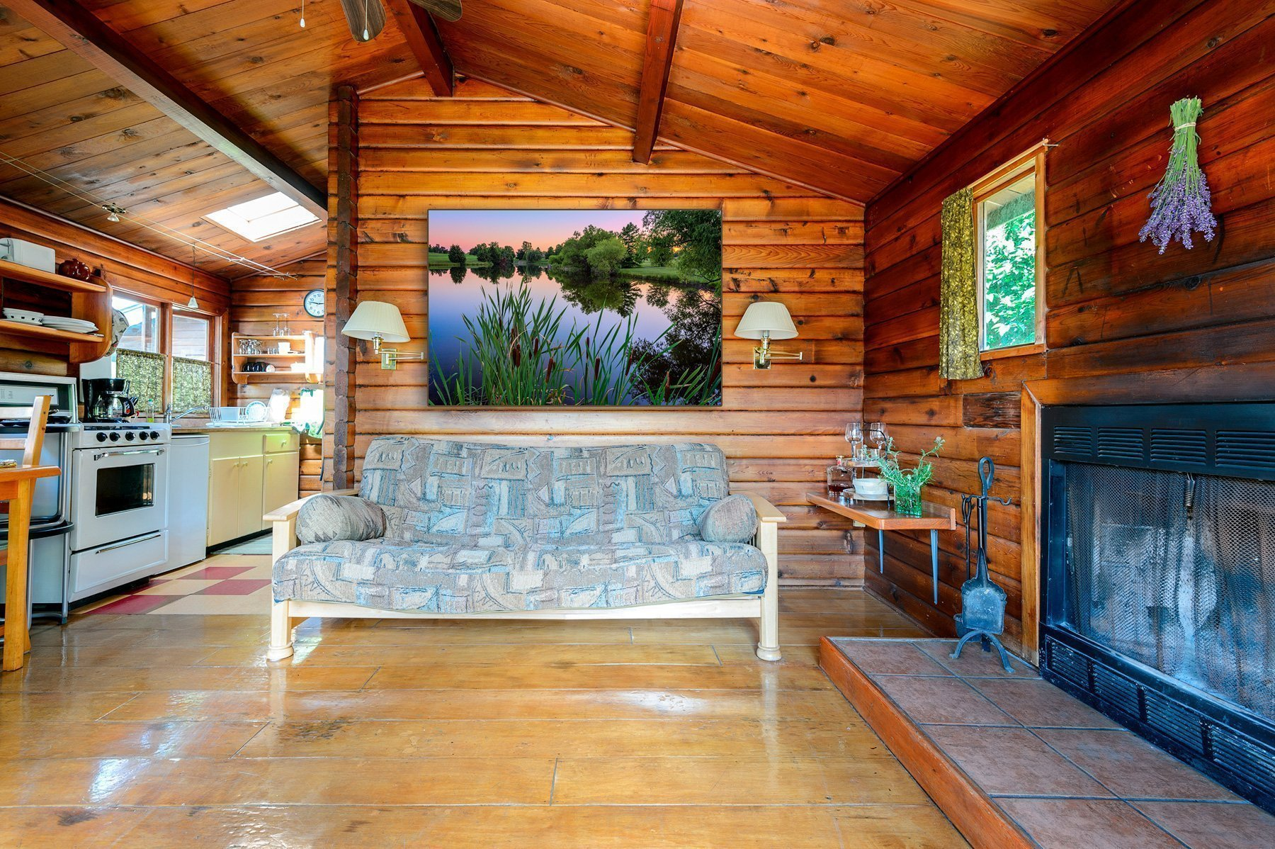 Cabin Living Room Fine Art