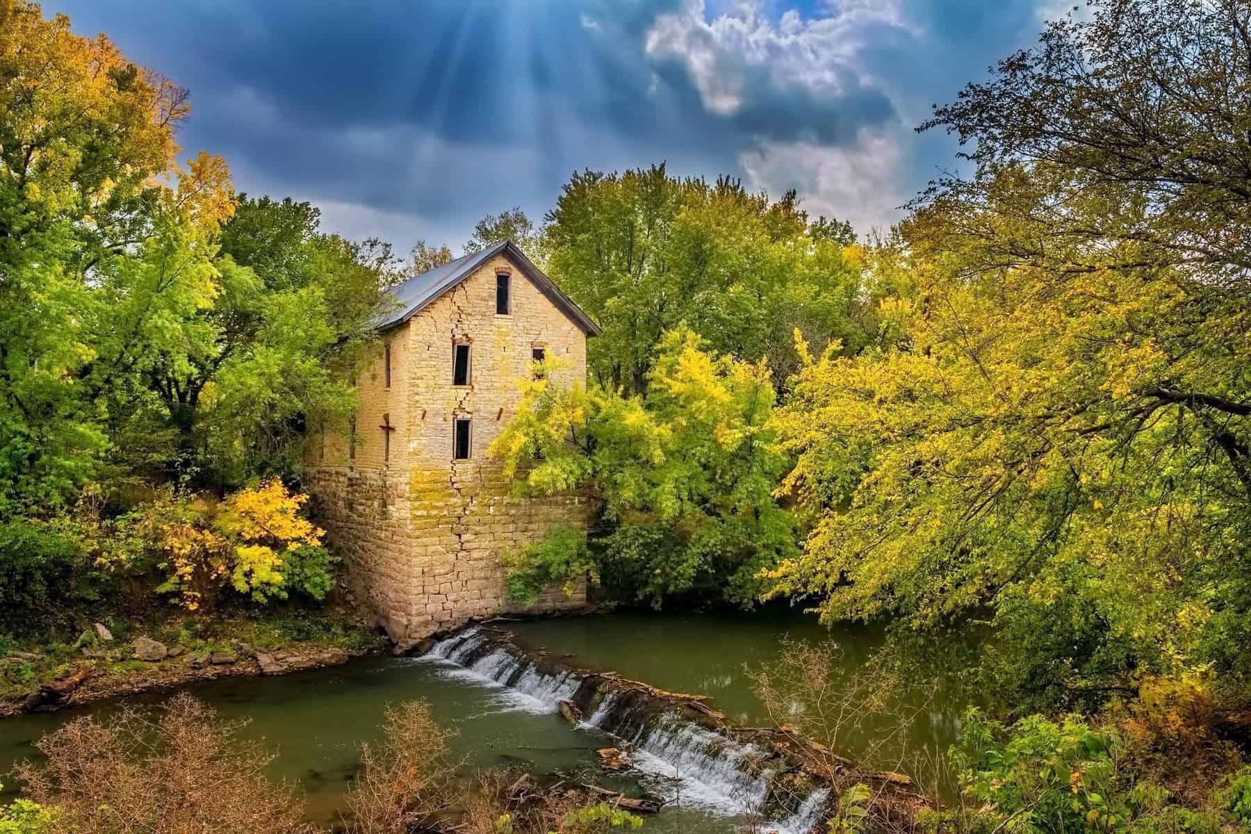 Old flour Mill landscape photo